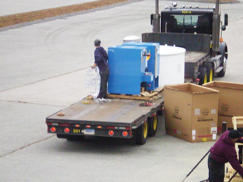 Backus Hospital Boiler Delivery