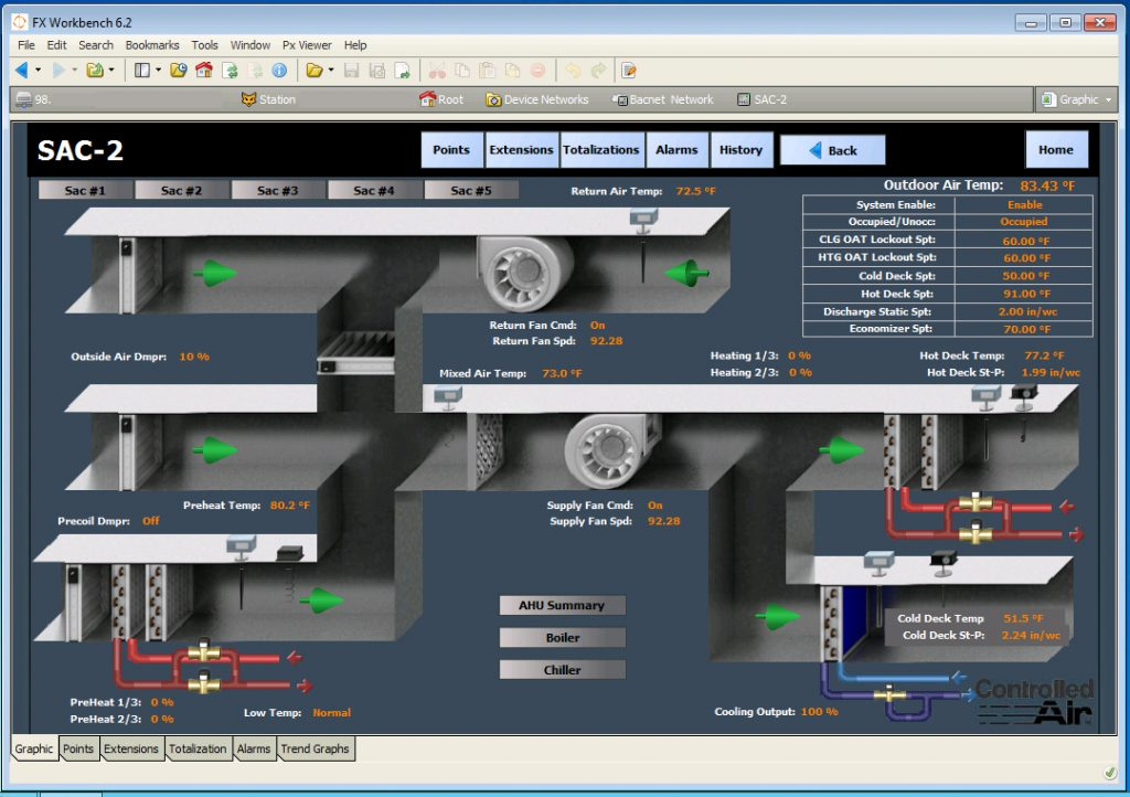 Facilities Workbench Online Building Controls