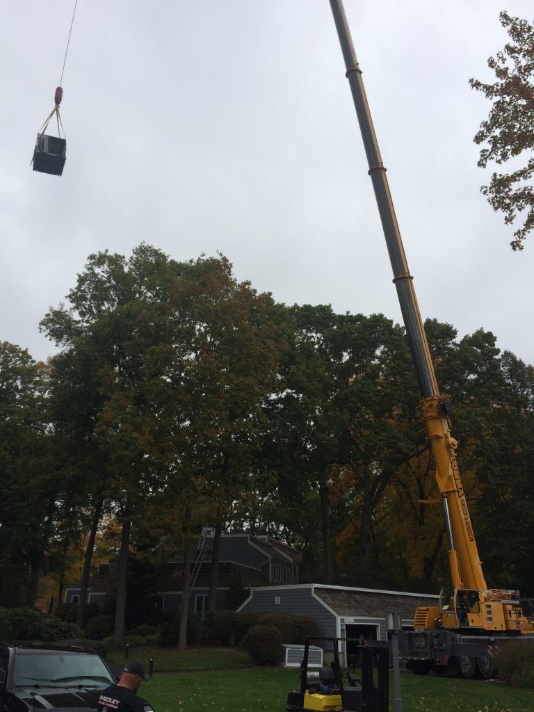 Castle Rock Condominiums Roof Top Change Out with Lomma Crane